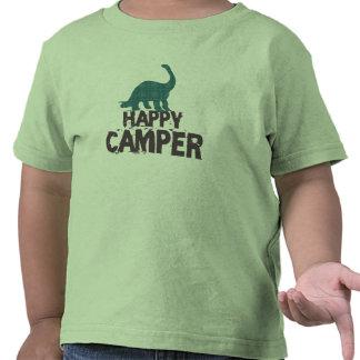 Dinosaure de camping de rad du plaid de l enfant t-shirt