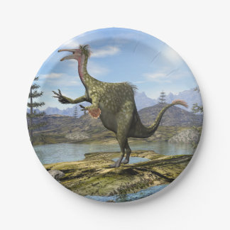 Dinosaure de Deinocheirus - 3D rendent Assiettes En Papier