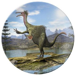 Dinosaure de Deinocheirus - 3D rendent Assiettes En Porcelaine