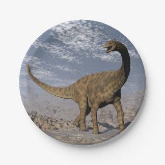 Dinosaure de Spinophorosaurus marchant dans le Assiettes En Papier