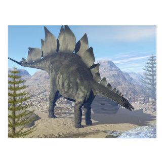 Dinosaure de Stegosaurus - 3D rendent Carte Postale