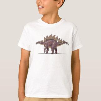 Dinosaure de Stegosaurus de T-shirt d'enfants