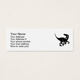 Dinosaure de Velociraptor Mini Carte De Visite