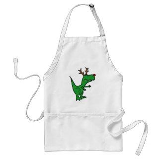 Dinosaure drôle de Noël comme renne Tablier