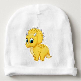 Dinosaure jaune mignon de Triceratops de bébé Bonnet De Bébé