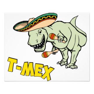 Dinosaure mexicain de Tyrannosaurus de T-Mex T-Rex Prospectus 11,4 Cm X 14,2 Cm