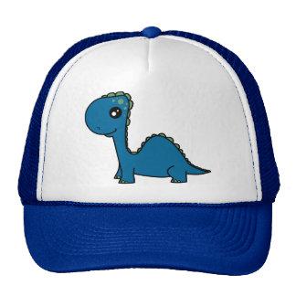 Dinosaure mignon de bébé bleu casquettes de camionneur