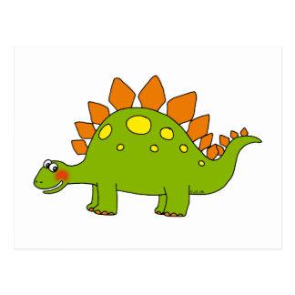 Dinosaure mignon - stegosaurus carte postale