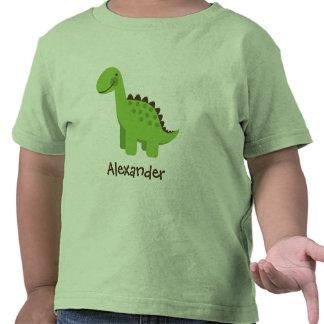 Dinosaure vert mignon de Personalizable T-shirt