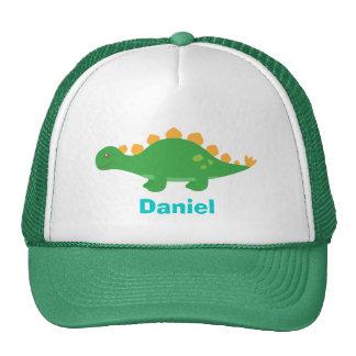 Dinosaure vert mignon de Stegosaurus pour Casquettes De Camionneur