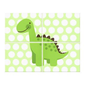 Dinosaure vert mignon toiles