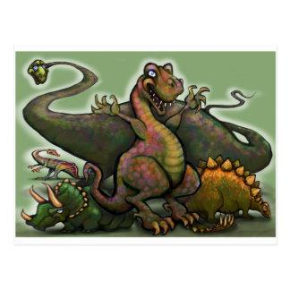 Dinosaures Carte Postale