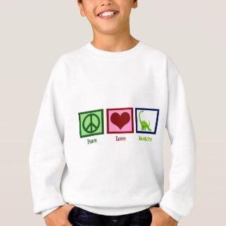 Dinosaures d'amour de paix sweatshirt