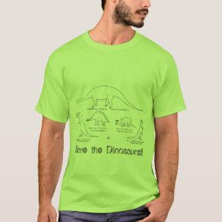 dinosaures et vélos t-shirt