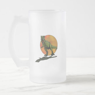 Dinosaures T-Rex Frosted Glass Beer Mug