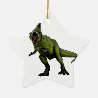 Dinosaures T-Rex Ornement Étoile En Céramique