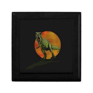 Dinosaures T-Rex Petite Boîte À Bijoux Carrée