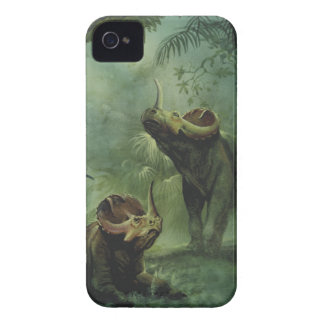 Dinosaures vintages, Centrosaurus dans la jungle Coques Case-Mate iPhone 4