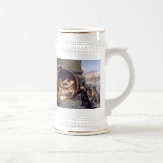 Diogène a entouré par des chiens - par Jean Léon Chope À Bière