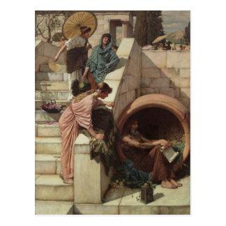 Diogène par John William Waterhouse Carte Postale