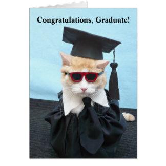Diplômé de félicitations ! carte de vœux