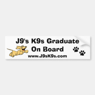 Diplômé de J9 K9s à bord d'adhésif pour pare-chocs Autocollant De Voiture