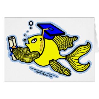 Diplômé de poissons d'obtention du diplôme carte de vœux