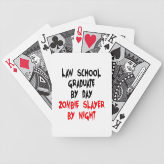 Diplômé d'école de droit de tueur de zombi cartes à jouer