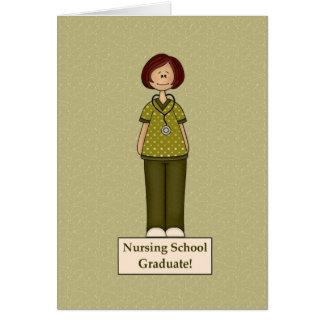 Diplômé d'école d'infirmières carte de vœux