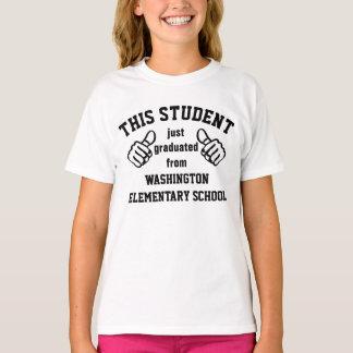 Diplômé d'école primaire t-shirt