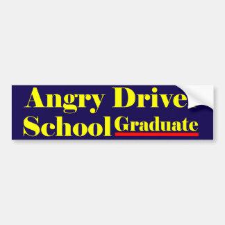 Diplômé fâché d'école de conducteur autocollant de voiture