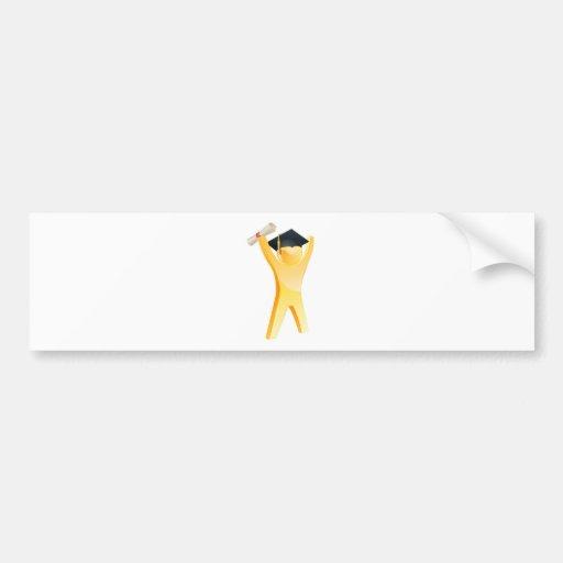 Diplômé heureux d'or autocollants pour voiture