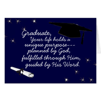 Diplômé prévu par la carte de voeux de Dieu