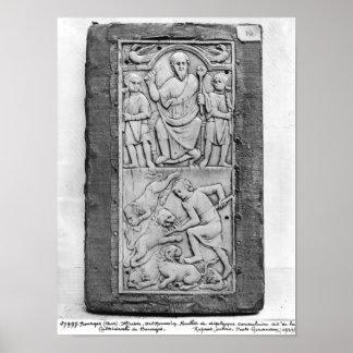 Diptyque consulaire d'Aetius, panneau droit Affiches