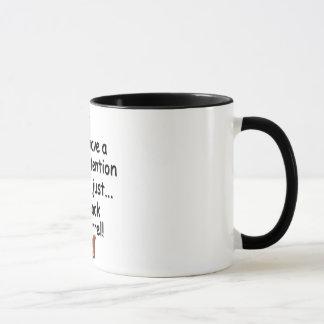 Dire court d'écureuil de durée d'attention mug