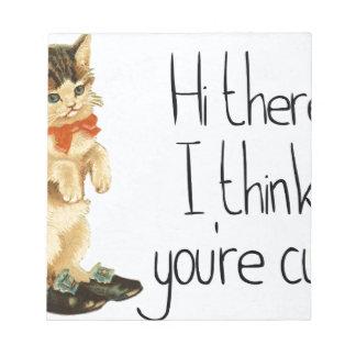 Dire de chat bloc-note