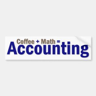 Dire de comptabilité autocollant pour voiture