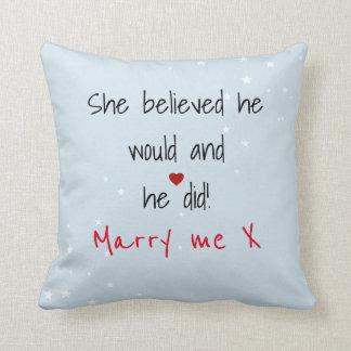 Dire de mariage oreillers