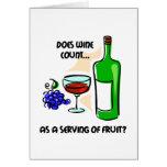 Dire drôle d'humour de vin carte