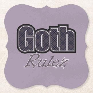 Dire noir de Goth Rulez de plaid Dessous-de-verre En Papier