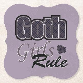 Dire noir de règle de filles de Goth de plaid Dessous-de-verre En Papier
