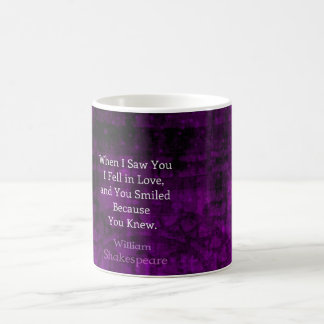 Dire romantique d'amour de William Shakespeare Mug