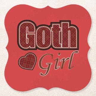 Dire rouge de fille de Goth de plaid Dessous-de-verre En Papier
