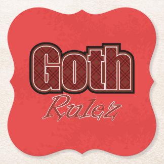 Dire rouge de Goth Rulez de plaid Dessous-de-verre En Papier