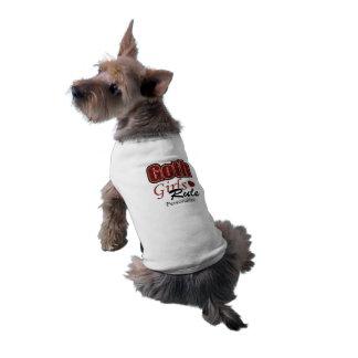 Dire rouge de règle de filles de Goth de plaid T-shirt Pour Chien
