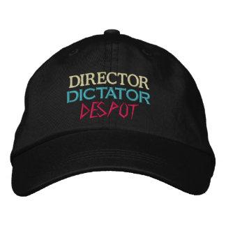 Directeur au despote casquette brodée