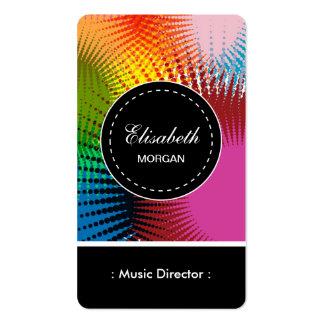Directeur de musique motif abstrait coloré carte de visite standard