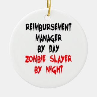 Directeur de remboursement de tueur de zombi ornement rond en céramique