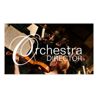 Directeur Music Instructor Instruments d orchestre Modèle De Carte De Visite