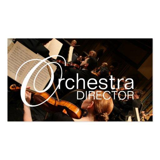 Directeur Music Instructor Instruments d'orchestre Modèle De Carte De Visite